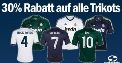 Real Madrid Heim-, Auswärts- und Ausweich-Trikot der Saison 2012/13