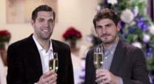 Iker Casillas und Felipe Reyes grüßen zu Weihnachten