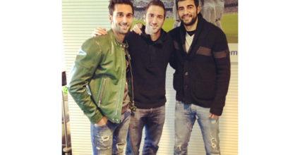 Álvaro Arbeloa am 3. Januar mit Gonzalo Higuaín und Raúl Albiol auf Twitter