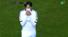 Ricardo Kaká sieht Gelbrot bei Real Madrids 0:0 gegen CA Osasuna