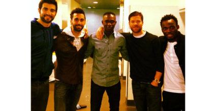 Mahamadou Diarra mit Raúl Albiol, Álvaro Arbeloa, Xabi Alonso und Michael Essien