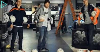 José Callejón, Iker Casillas und Álvaro Morata weihen den neuen Fanshop im Bernabéu ein