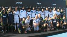 Jose Callejon, Antonio Adan, Alvaro Morata und Michael Essien trainieren mit 20 Gewinnern von BWIN