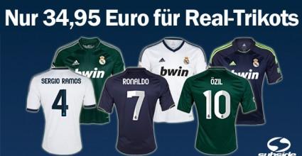 Schnäppchen-Alarm, ein Trikot von Real Madrid kostet nur 34,95 Euro