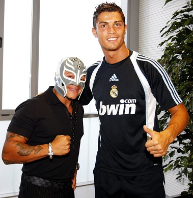 Cristiano Ronaldo and Rey Mysterio, this picture makes me ...