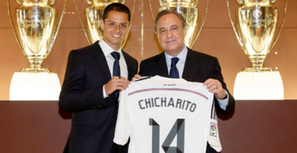 chicharito hernandez florentino perez real madrid