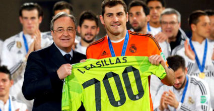 ikas casillas 700 real madrid florentino perez