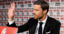 Real Madrid's midfielder Xabi Alonso gestures during a press conference at the Santiago Bernabeu stadium in Madrid on August 29, 2014. Real Madrid confirmed today that the club has reached accord with German champions Bayern Munich to transfer midfielder Xabi Alonso.   AFP PHOTO/ DANI POZO        (Photo credit should read DANI POZO/AFP/Getty Images)