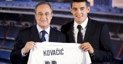 mateo kovacic bei seiner präsentation bei real madrid