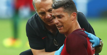 Cristiano Ronaldo Europameisterschaft Finale Verletzung Portugal Frankreich 2016
