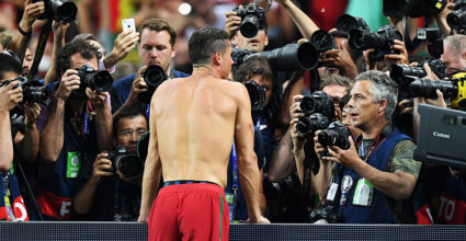 Cristiano Ronaldo Portugal Presse TV Kameras Fotografen Europameisterschaft Star
