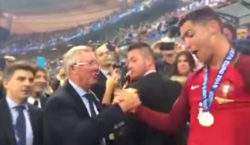 cristiano ronaldo sir alex ferguson euro 2016 final portugal