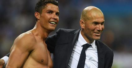 Cristiano Ronaldo Zinédine Zidane Real Madrid