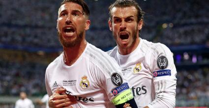 Gareth Bale Sergio Ramos Real Madrid Champions League