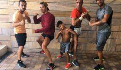 cristiano ronaldo training junior