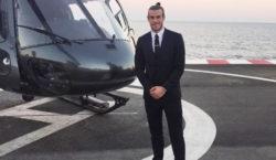 Gareth Bale Monaco Heli uefa