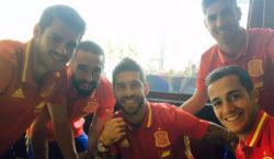 Sergio Ramos Álvaro Morata Daniel Carvajal Lucas Vázquez Marco Asensio Spanien
