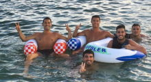 cristiano ronaldo pool water sea meer