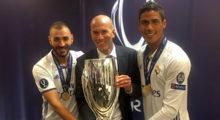 varane zidane benzema real madrid uefa super cup
