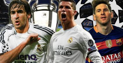 Raúl Cristiano Ronaldo Lionel Messi