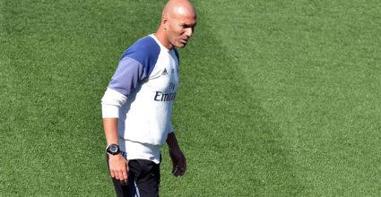 Zinédine Zidane Real Madrid Training