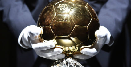 A picture shows the 2014 FIFA Ballon d'Or award ahead of the award ceremony at the Kongresshaus in Zurich on January 12, 2015.  AFP PHOTO / FABRICE COFFRINI        (Photo credit should read FABRICE COFFRINI/AFP/Getty Images)