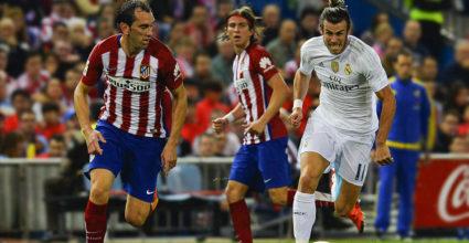 Gareth Bale Diego Godín Atlético Real Madrid