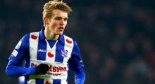 EINDHOVEN, NETHERLANDS - JANUARY 22:  Martin Odegaard of sc Heerenveen in action during the Dutch Eredivisie match between PSV Eindhoven and SC Heerenveen held at Philips Stadion on January 22, 2017 in Eindhoven, Netherlands.  (Photo by Dean Mouhtaropoulos/Getty Images)