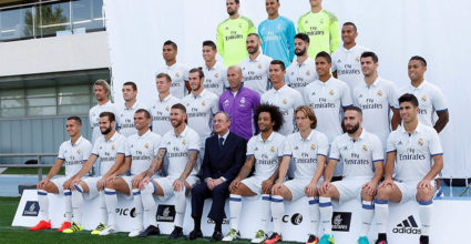 real madrid gruppen team foto