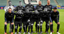 Real Madrid's players players pose for the team photo prior to the UEFA Champions League group F football match Legia Warsaw vs Real Madrid CF in Warsaw, Poland on November 2, 2016. / AFP / ODD ANDERSEN        (Photo credit should read ODD ANDERSEN/AFP/Getty Images)