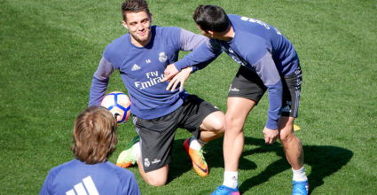 real madrid training james kovacic