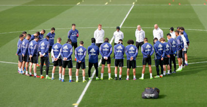 training real madrid schweigeminute