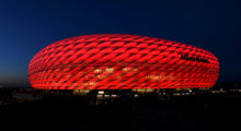 MUNICH, GERMANY - MARCH 11:  A general view outside the stadium prior to the UEFA Champions League Round of 16 second leg match between FC Bayern Muenchen and FC Shakhtar Donetsk at Allianz Arena on March 11, 2015 in Munich, Germany.  (Photo by Matthias Hangst/Bongarts/Getty Images)