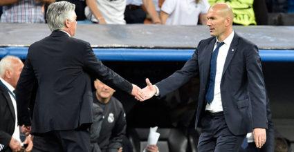 Carlo Ancelotti Zinédine Zidane