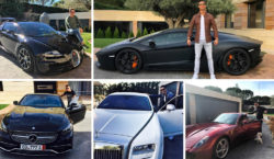 Cristiano Ronaldo Autos Cars lamborghini ferrari bugatti mercedes