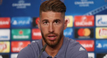 CARDIFF, WALES - JUNE 02:  In this handout image provided by UEFA, Sergio Ramos of Real Madrid talks during a press conference prior to the UEFA Champions League Final between Juventus and Real Madrid at the National Stadium of Wales on June 2, 2017 in Cardiff, Wales.  (Photo by Handout/UEFA via Getty Images)
