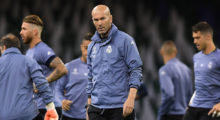 CARDIFF, WALES - JUNE 02:  Zinedine Zidane, Manager of Real Madrid looks on during a Real Madrid training session prior to the UEFA Champions League Final between Juventus and Real Madrid at the National Stadium of Wales on June 2, 2017 in Cardiff, Wales.  (Photo by Shaun Botterill/Getty Images)