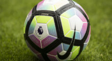 The 2016-2017 English Premier League logo is seen on the match ball ahead of the pre-season friendly football match between Wigan Athletic and Manchester United at the DW stadium in Wigan, northwest England, on July 16, 2016.  / AFP / JON SUPER / RESTRICTED TO EDITORIAL USE. No use with unauthorized audio, video, data, fixture lists, club/league logos or 'live' services. Online in-match use limited to 75 images, no video emulation. No use in betting, games or single club/league/player publications.  /         (Photo credit should read JON SUPER/AFP/Getty Images)