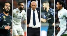 Isco Daniel Carvajal Zinédine Zidane Karim Benzema Raphael Varane