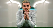 Betis' forward Dani Ceballos poses at the Benito Villamarin stadium, in Sevilla on February 8, 2017.  Seville has two faces: those who like the Holy Week, attending the religious precessions, and those who prefer the April Fair, a spring festival on a flamenco air, between flounced dresses and Traditional outfits. And then there are those who love the green and white of Real Betis Balompie and those who prefer the red and white of Sevilla FC. / AFP / CRISTINA QUICLER        (Photo credit should read CRISTINA QUICLER/AFP/Getty Images)