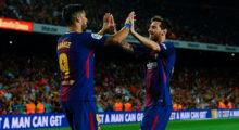 Luis Suárez Lionel Messi FC Barcelona