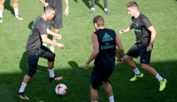 real madrid training ronaldo luca zidane