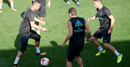 real madrid training ronaldo luca zidane