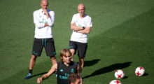 training real madrid zidane modric
