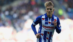 HEERENVEEN, NETHERLANDS - SEPTEMBER 10:  Martin Odegaard of Heerenveen in action during the Dutch Eredivisie match between SC Heerenveen and PSV Eindhoven held at Abe Lenstra Stadium on September 10, 2017 in Heerenveen, Netherlands.  (Photo by Dean Mouhtaropoulos/Getty Images)