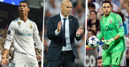 Cristiano Ronaldo Zinédine Zidane Keylor Navas
