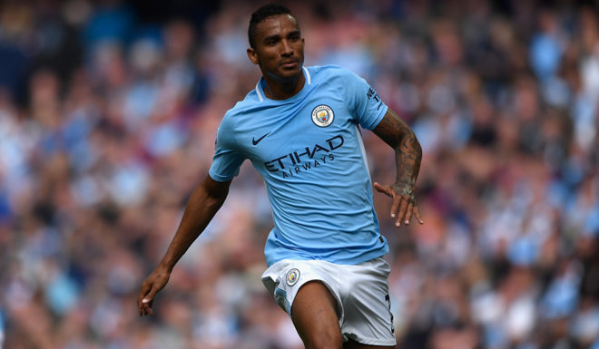 MANCHESTER, ENGLAND - SEPTEMBER 09: Manchester City player Danilo in action during the Premier League match between Manchester City and Liverpool at Etihad Stadium on September 9, 2017 in Manchester, England. (Photo by Stu Forster/Getty Images)