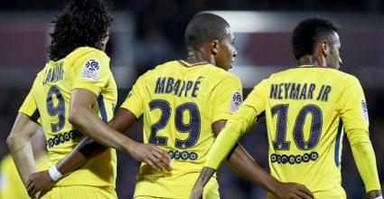 Kylian Mbappe Edinson Cavani Neymar