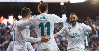 Cristiano Ronaldo Karim Benzema Gareth Bale BBC