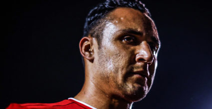 MONTERREY, MEXICO - OCTOBER 11: Keylor Navas of Costa Rica looks up during the international friendly match between Mexico and Costa Rica at Universitario Stadium on October 11, 2018 in Monterrey, Mexico. (Photo by Hector Vivas / Getty Images)